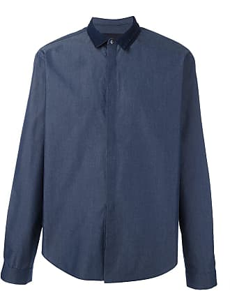Juun.J Camisa com contraste - Azul