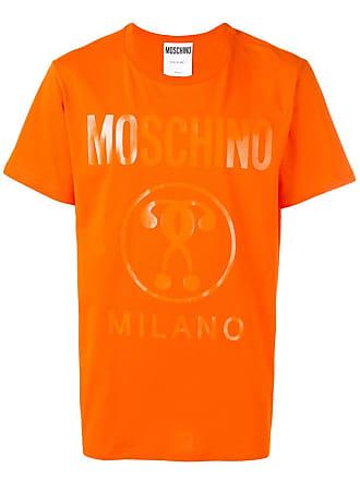 Moschino logo print T-shirt - Orange