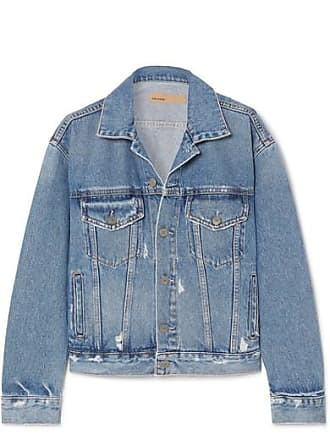 GRLFRND Kim Distressed Denim Jacket - Mid denim