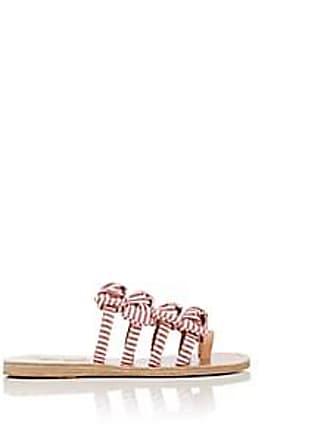 afaf6ac7087e Ancient Greek Sandals Womens Hara Bow-Embellished Cotton Slide Sandals -  Red Size 11