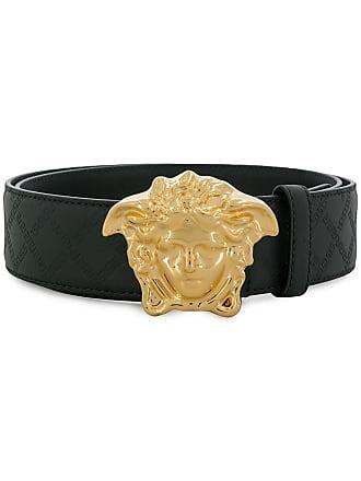 Versace logo buckle belt - Black