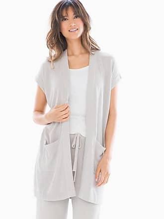 Barefoot Dreams CozyChic Ultralite Long Cardi, Fog Grey, Size XS, from Soma
