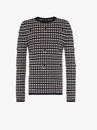 Raf Simons Hoop embellished fairisle wool mphair-blend jumper