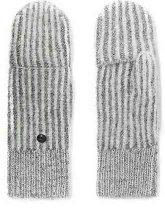 Rag & Bone Jonie Striped Ribbed-knit Mittens - Gray