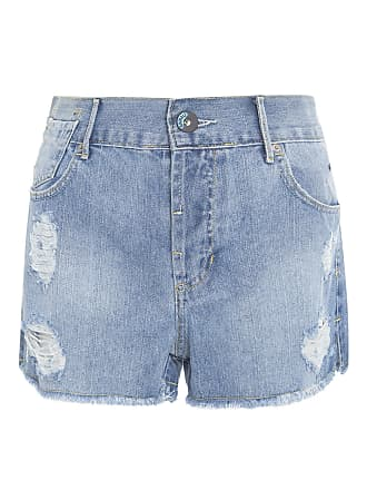 Animale SHORT FEMININO BASIC DESTROYED - AZUL