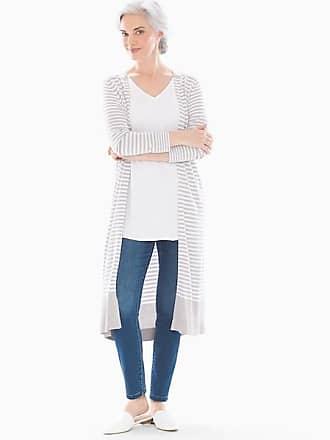 Soma Colorblock Open Fron Cardigan Duster Stocking Stripe Opal Gray, Size XXL