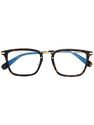 Brioni Armação de óculos retangular - Marrom