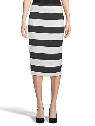 5twelve Striped Scuba Crepe Fitted Skirt