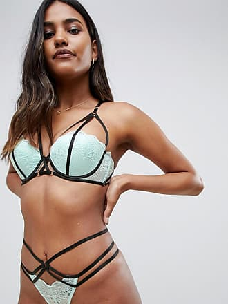 aabdc1290ce1f Ann Summers Midnight Kiss Balcony lace and strapping detail bra in mint