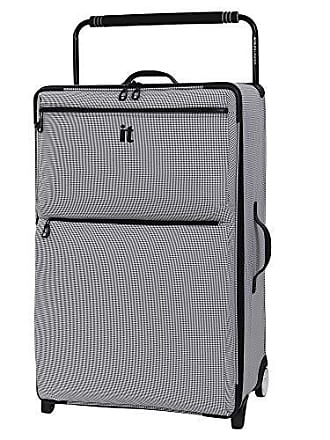 IT Luggage IT Luggage 32.7 Worlds Lightest Los Angeles 2 Wheel, Black/White