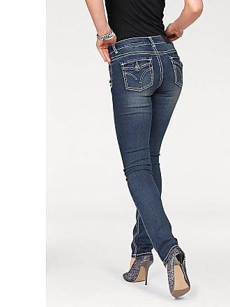 Arizona Bootcut Jeans »mit Kontrastnähten und Pattentaschen« für Damen | BAUR
