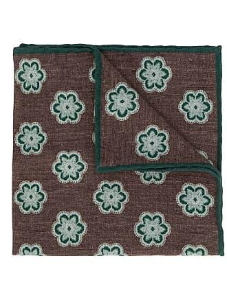 Eleventy floral print scarf - Marrom