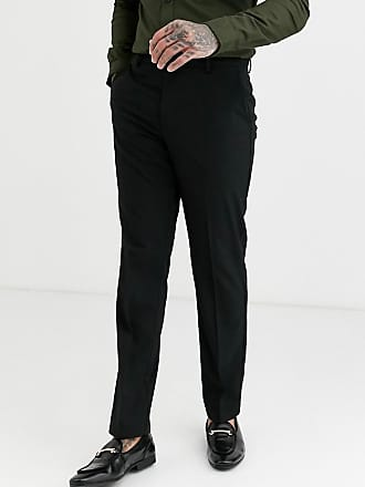 Burton Menswear slim smart trousers in black