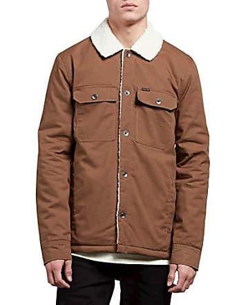 Volcom Mens Keaton Mid Length Jacket, Brown, Extra Large