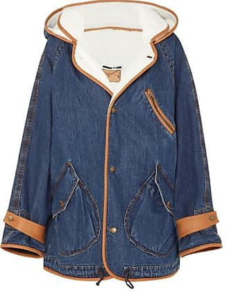McQ by Alexander McQueen Denim And Faux-shearling Jacket - Mid denim