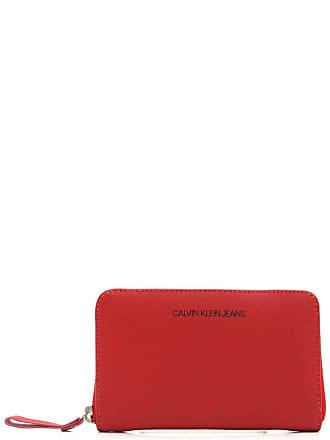 Calvin Klein Carteira Couro Calvin Klein Lisa Vermelha