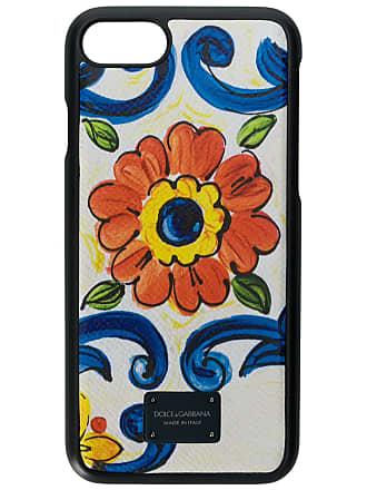 Dolce & Gabbana Capa para iPhone 8 Sicilian de couro - Branco