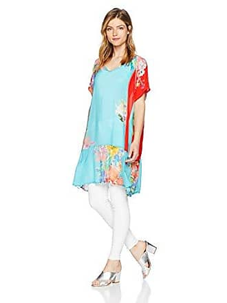 Johnny Was Womens Patterned Rayon V-Neck Tunic, Multi L