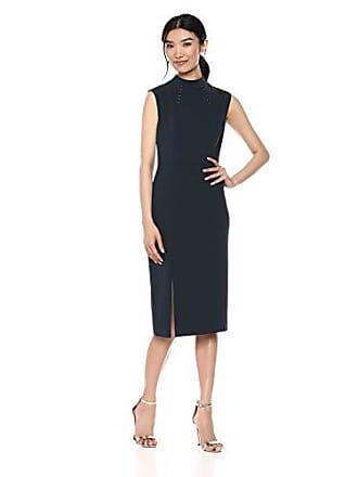 Ivanka Trump Womens Scuba Crepe Sheath Compression Dress, Mermaid 6