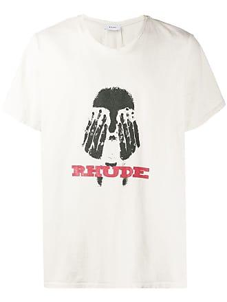 Rhude Camiseta Hands On The Face - Neutro