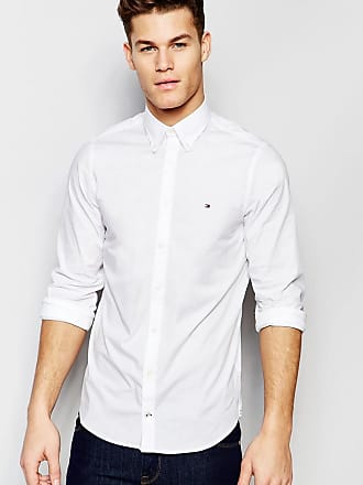 1d49560320877 Tommy Hilfiger poplin shirt with stretch in slim fit in white