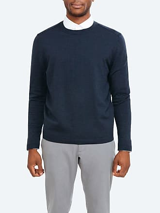 Ministry of Supply Atlas Crew Neck Sweater - Navy size XXL