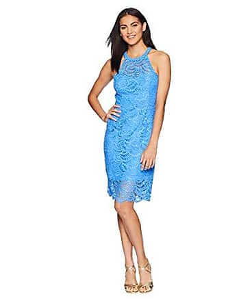 b123a757b61314 Lilly Pulitzer Womens Kenna Dress, Bennet Blue Scalloped Fan lace, 14