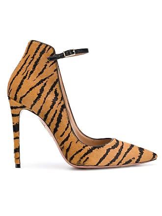 Aquazzura Sapato Sharon 105 de couro - Marrom