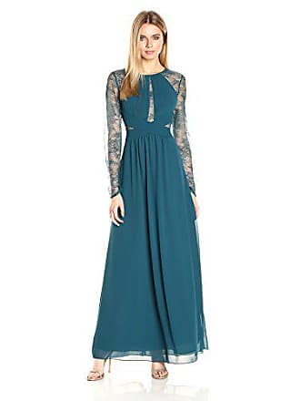 Bcbgmaxazria BCBGMax Azria Womens Janette Woven Evening Dress, Dark Teal, 4