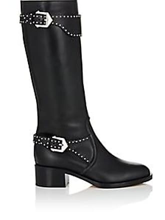 Givenchy Womens Studded-Strap Leather Knee Boots - Black Size 11 c97939383f