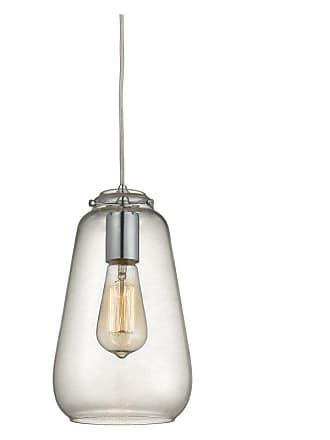 Elk Lighting Elk Lighting Orbital 8.3 in. 1 Light Pendant Oil Rubbed Bronze/Amber Teak - 10433/1