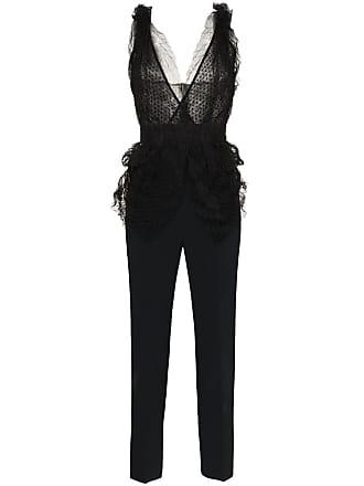 fab8bfc0766 Roland Mouret Almendro V-neck mesh detail jumpsuit - Black