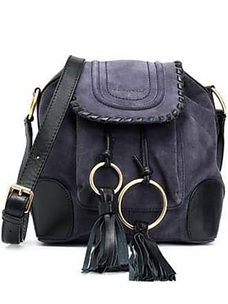 See By Chloé See By Chloé Woman Polly Tasseled Leather-trimmed Suede Shoulder Bag Purple Size