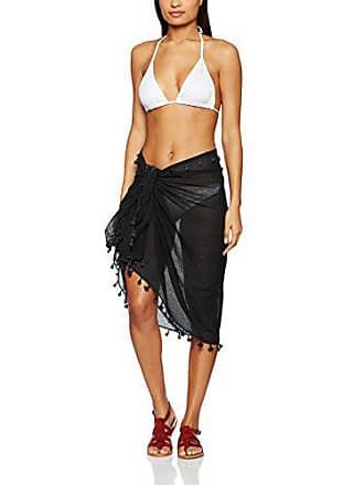 6f948714a0 Seafolly Womens Beach Basics Cotton Gauze Sarong Swimsuit Cover Black