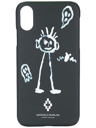 Marcelo Burlon Capa para iPhone X com estampa - Preto