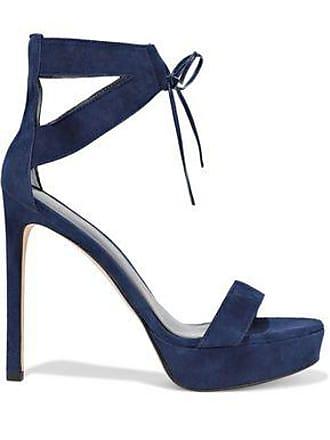 Stuart Weitzman Stuart Weitzman Woman Suede Platform Sandals Cobalt Blue Size 37