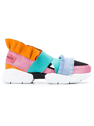 Emilio Pucci City Up Ruffle Trainers - Blue