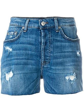 7 For All Mankind Short jeans desgastado - Azul