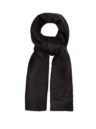 Burberry Two Tone Padded Silk Scarf - Womens - Black