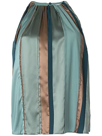 Brunello Cucinelli bead-embellished satin top - Green