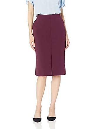 Ellen Tracy Womens Pencil Skirt with Front Vent, Bordeaux 4