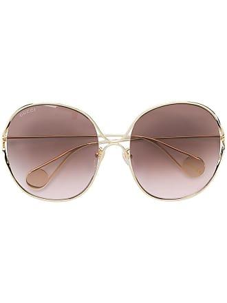 ba0f9c9935 Gucci round frame sunglasses - Metallic
