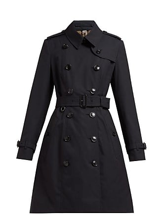 Burberry Chelsea Double Breasted Cotton Trench Coat - Womens - Navy