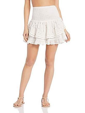 Ramy Brook Womens Arius Skirt, White, Extra Small