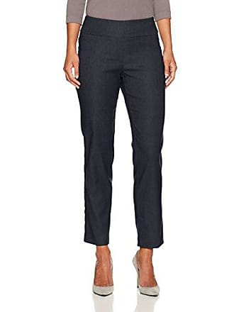 Ruby Rd. Womens Petite Pull-on Heathered Millennium Tech Stretch Pant, Navy, 16P