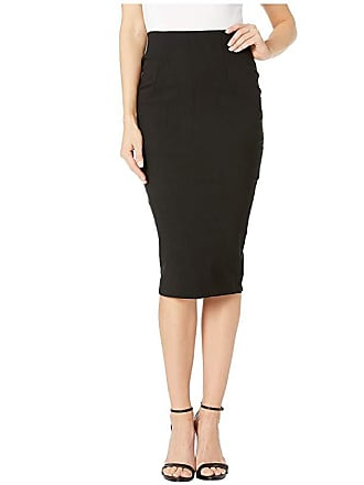 Unique Vintage Stretch High-Waist Tracy Wiggle Skirt (Black) Womens Skirt