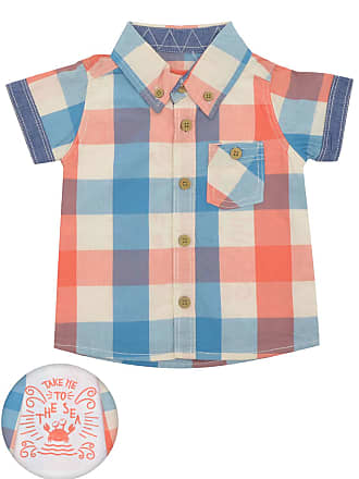 Tip Top Camisa Tip Top Xadrez Bebê Azul/Amarela