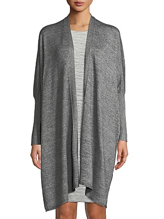 Neiman Marcus Marled Knit Open-Front Duster