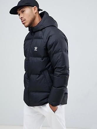 658d30fcece8d adidas Originals reversible hooded Down puffer jacket in black DH5003 -  Black