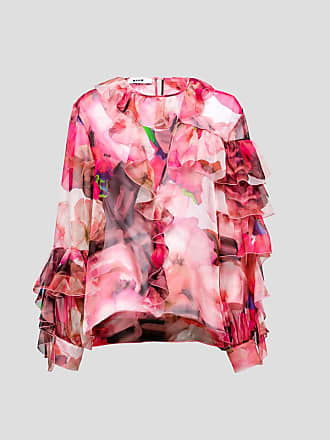 Msgm flower print blouse